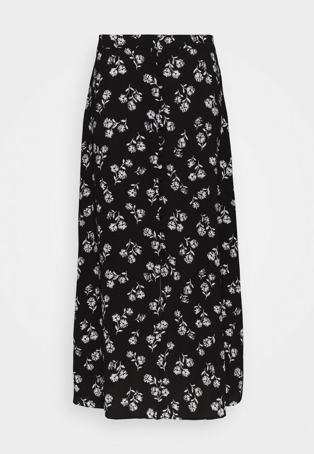NERISSA FLORAL SKIRT - Pencil skirt - black
