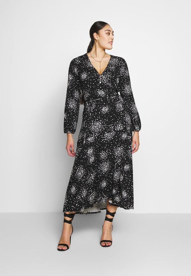 WRAP DRESS - Maxi-jurk - black
