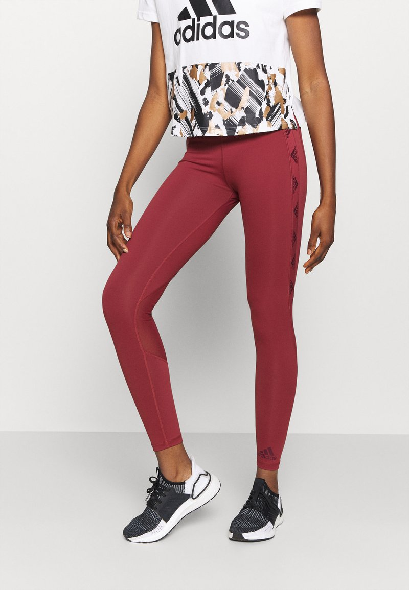 adidas Performance - Leggings - legend red/maroon