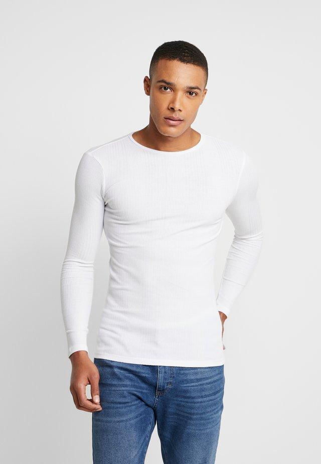 Långärmad tröja - bianco