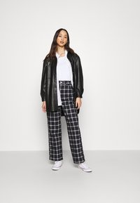 Topshop - CHECK CARPENTER - Trousers - navy - 1