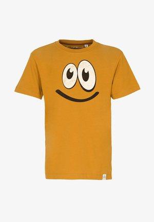 SMILE - T-shirts print - mustard