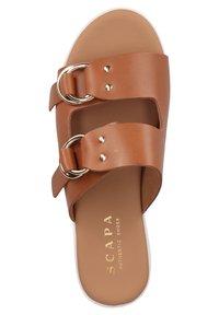 Scapa - Platform sandals - cognac - 3