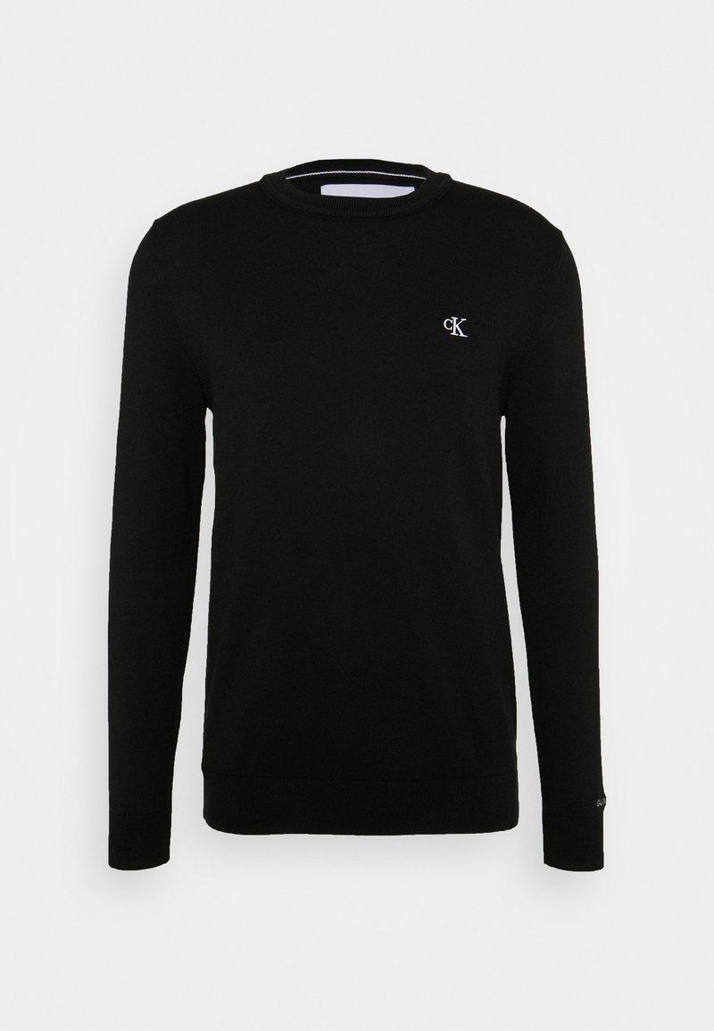 Calvin Klein Jeans - MONOGRAM CHEST LOGO  - Jumper - black