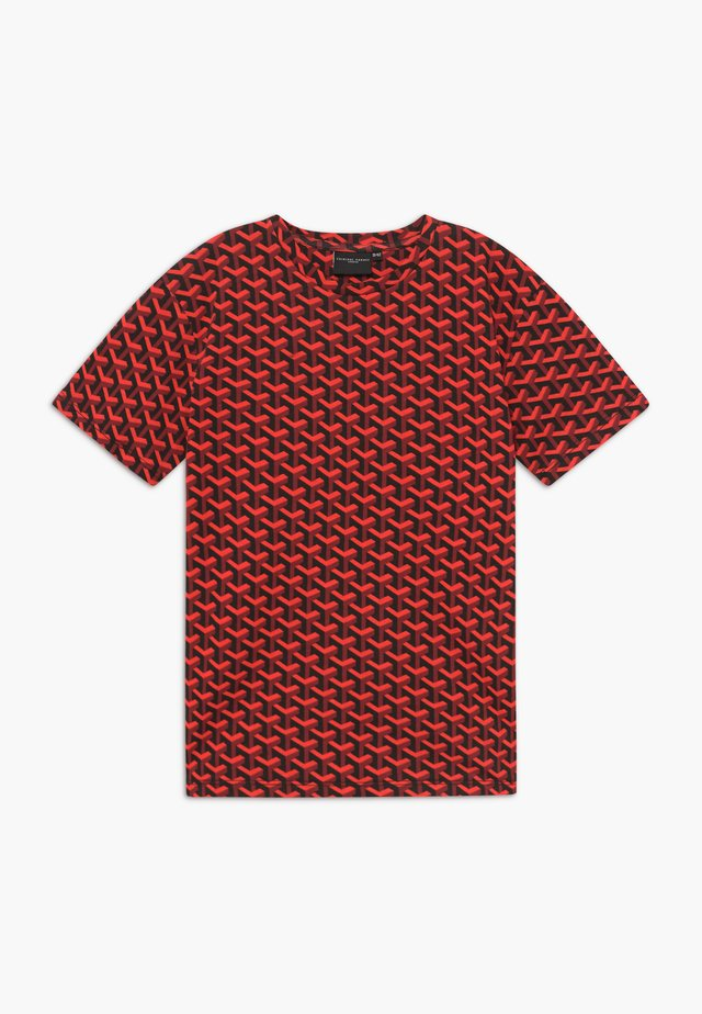 LOUVRE TEE - Print T-shirt - red