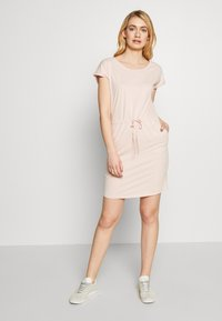 Vero Moda Tall - VMAPRIL SHORT DRESS 2 PACK - Jersey dress - khaki/rose - 1