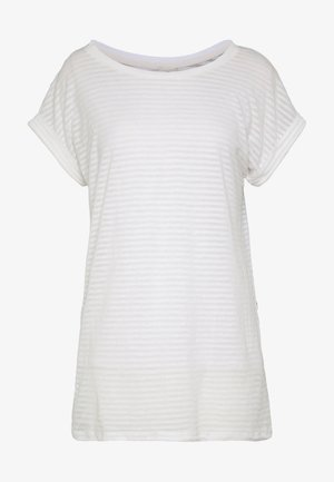 LUGE KNOTTED - Print T-shirt - beige