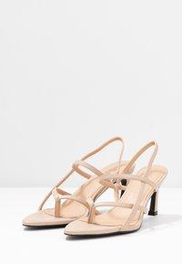 NA-KD - POINTY SOLE TOE STRAP  - Sandály - nude/beige - 4