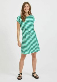 Vila - VIMOONEY STRING - Jersey dress - pepper green - 1