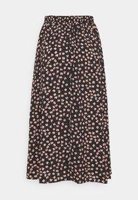 Pieces - PCDALLAH MIDI SKIRT - A-line skirt - black/pink - 1