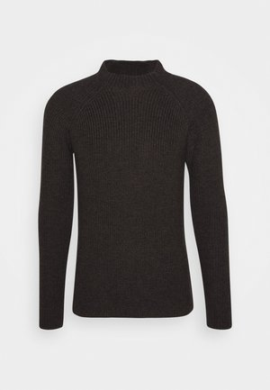 MENS HILLOCK FUNNEL NECK - Stickad tröja - peat heather