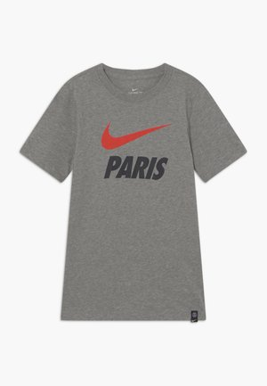 PARIS ST GERMAIN TEE GROUND - Club wear - grey heather