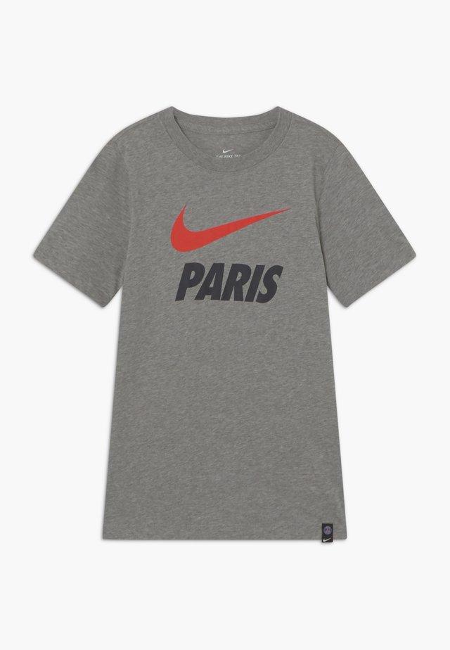 PARIS ST GERMAIN TEE GROUND - Article de supporter - grey heather