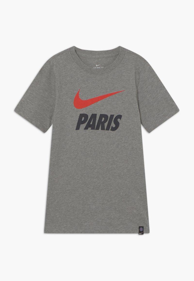 Nike Performance - PARIS ST GERMAIN TEE GROUND - Club wear - grey heather