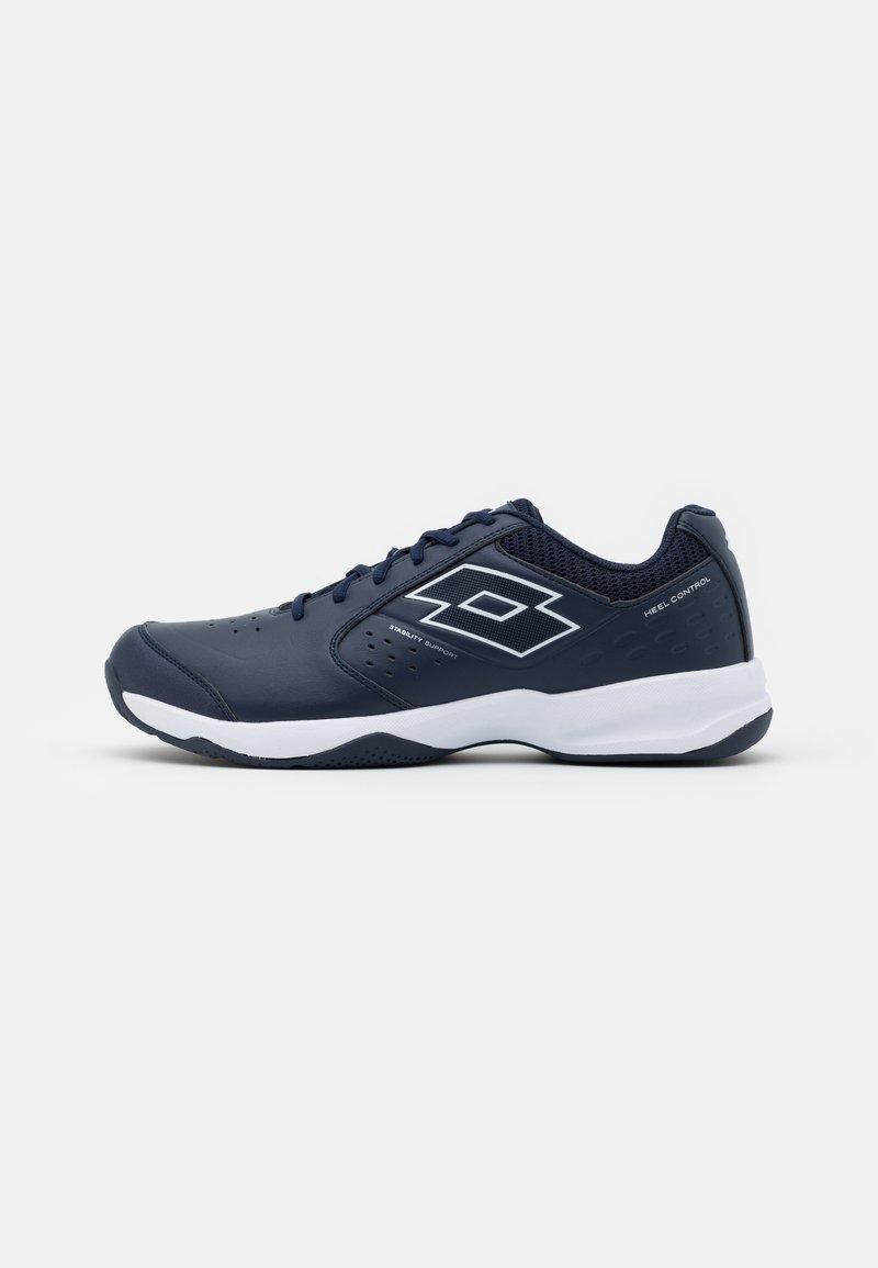Lotto - SPACE 600 II - Zapatillas de tenis para todas las superficies - navy blue/all white