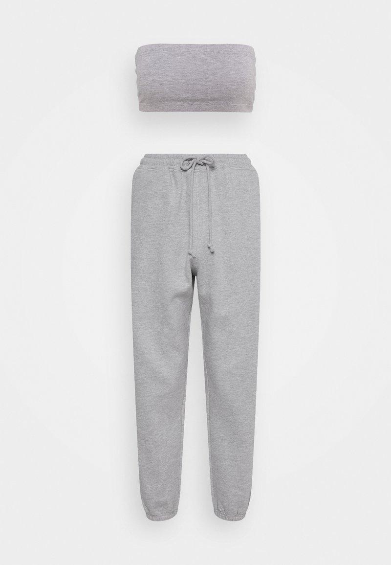 Missguided Petite - BANDEAU JOGGER SET - Tracksuit bottoms - grey