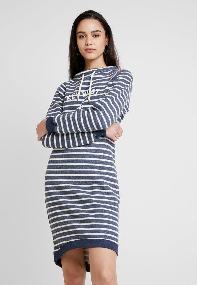 DEBORAH - Sukienka letnia - navy melange/pearl