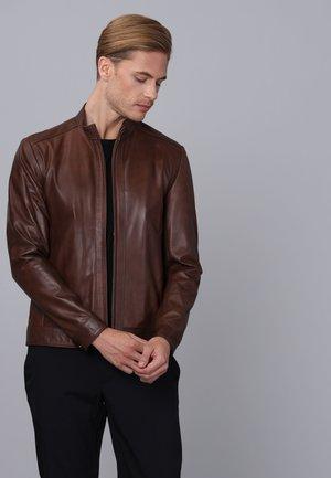 Leather jacket - chestnut