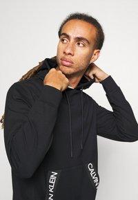 Calvin Klein Performance - HOODIE - Felpa con cappuccio - black - 3