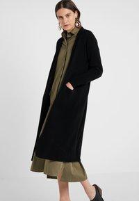pure cashmere - LONG CARDIGAN - Vest - black - 0