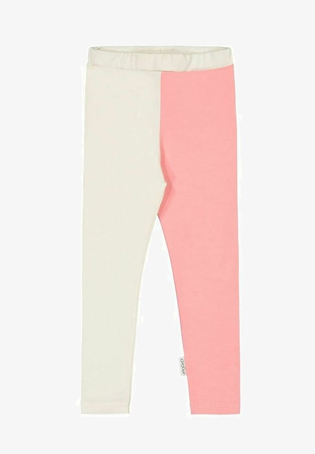 2-COLOR - Leggings - Trousers - white sand/pastel coral