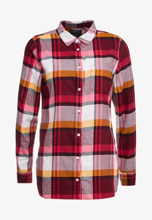 BOY PACEY PLAID - Button-down blouse - burgundy rose