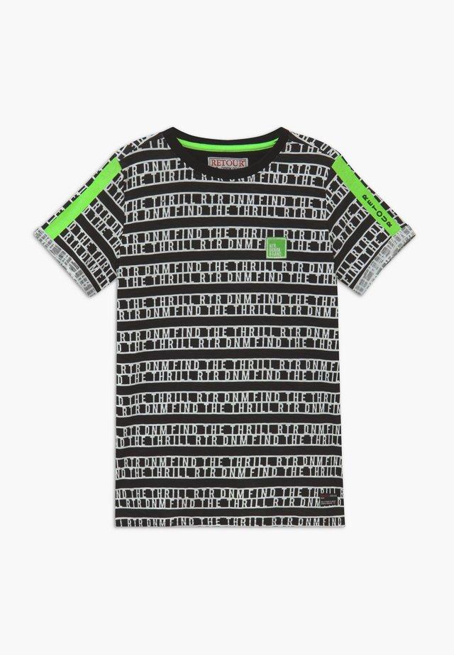 MORIS - T-shirt con stampa - black