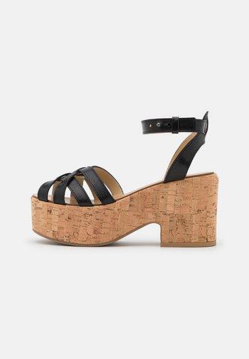 RITO - Platform sandals - schwarz