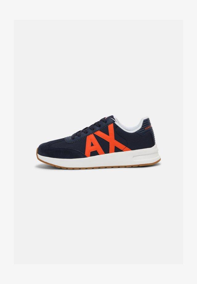 Sneakers laag - indigo/orange