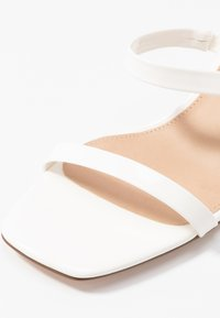 NA-KD - SQUARED TWO STRAP - Heeled mules - white - 2