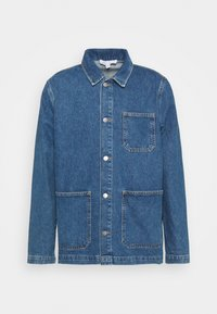 RECYCLED WORKER JACKET - Jeansjacka - mid blue wash