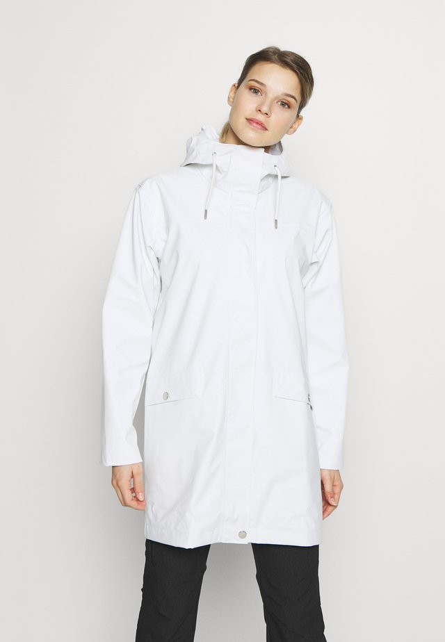 MOSS RAIN COAT - Waterproof jacket - offwhite
