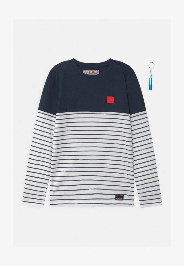 XAVIER - Maglietta a manica lunga - dark navy