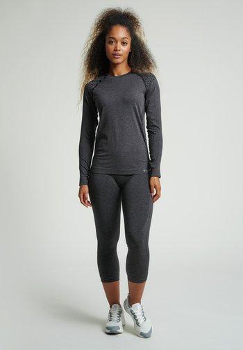 3/4 sports trousers - black melange