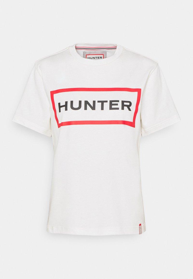 Hunter ORIGINAL - WOMENS ORIGINAL - Triko spotiskem - white