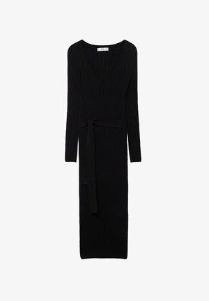 Gebreide jurk - zwart