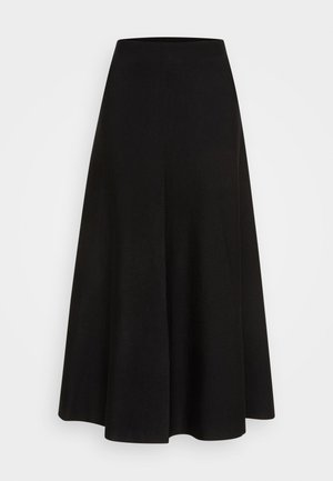 MURGO COSTINA MISTO LANA STRETCH - Áčková sukně - black