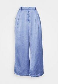PALAZZO PANTS - Trousers - blue