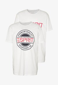 Esprit - 2 PACK - Print T-shirt - white - 3
