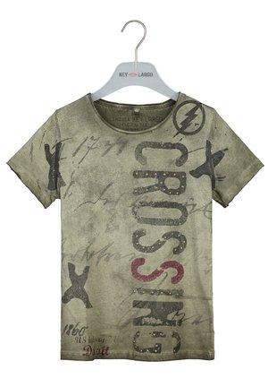 HIGHWAY - Print T-shirt - khaki
