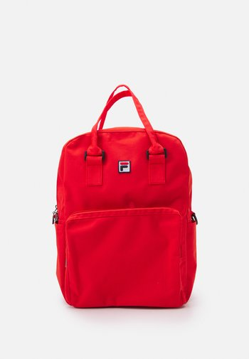 COATED CONVERTIBLE MID BACKPACK UNISEX - Rucksack - true red