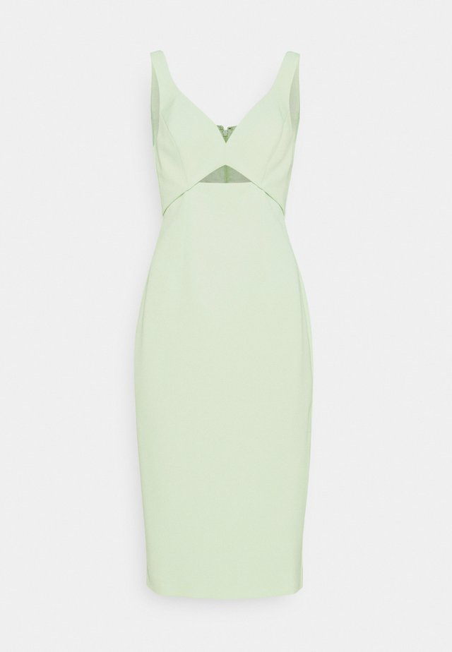 CUTOUT MIDI DRESS - Etui-jurk - whisper green