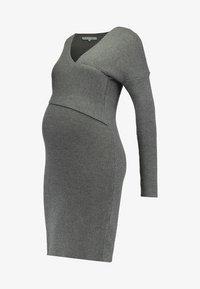 Anna Field MAMA - Stickad klänning - anthracite - 5