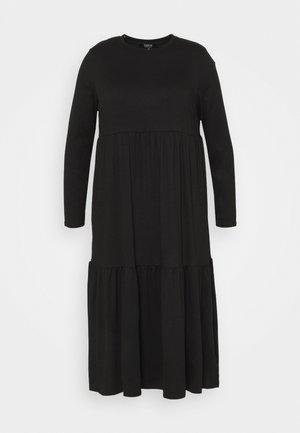TIERED DRESS - Jerseykjole - black