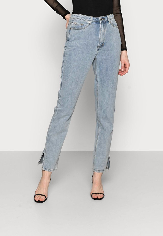SIDE SPLIT HEM MOM - Jeans a sigaretta - blue
