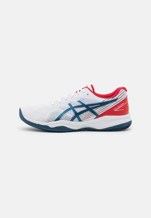 GEL-GAME 8 CLAY - Tennisschoenen voor kleibanen - white/mako blue