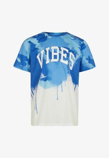 VIBES - T-shirt print - blue