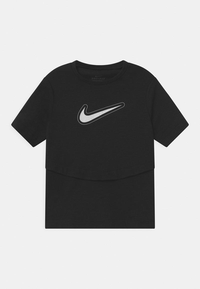 Nike Performance - DRY TROPHY  - Print T-shirt - black/white