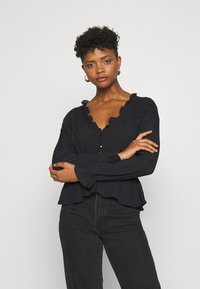 Nly by Nelly - ROMANTIC CHI BLOUSE - Bluser - black - 0