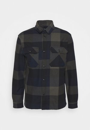 SLHLOOSEREED CHECK - Shirt - black